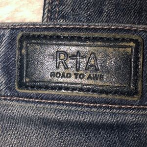 RtA Road to Awe Jeans - RtA Jeans Distressed Slim Ankle 27x28 MSRP $290